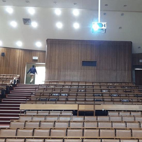 auditorium, sound, display, projector
