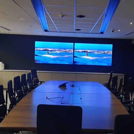 screen, video conferencing, boardroom