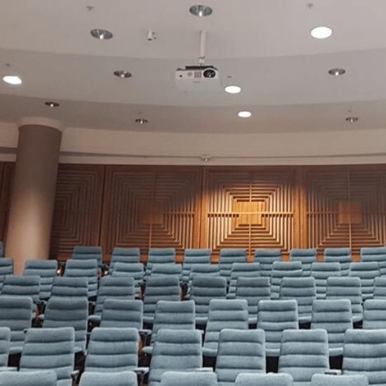 auditorium, projector